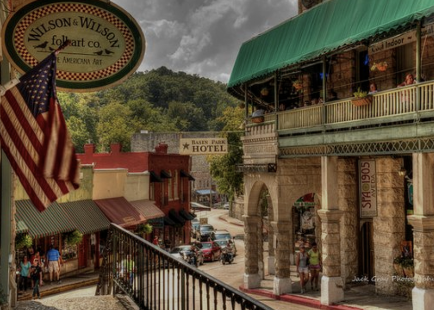 Eureka Springs a short drive from the Haven on Beaver Lake.